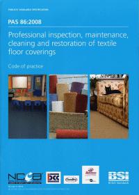 Carpet Cleaner Rotherham Chem-Dry PAS86:2008 document image