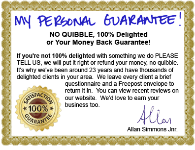 Image of a certificate showing my personal guarantee.