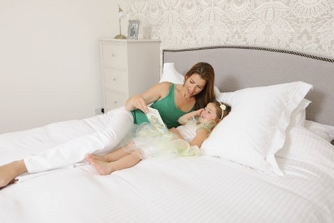 Mum & Daughter on Bed